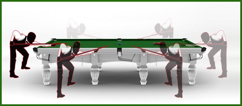 Maße eines Snookertisch